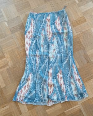 Claire.dk Tulip Skirt cornflower blue-natural white polyester