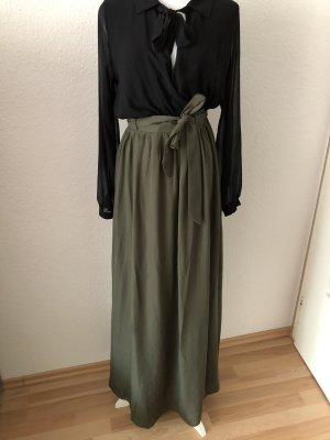 Falda larga gris verdoso