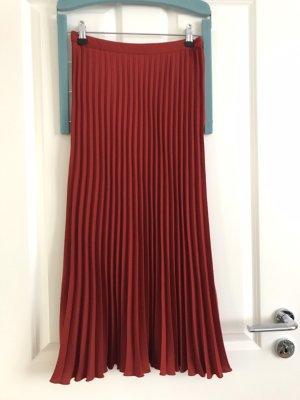 H&M Plaid Skirt dark red