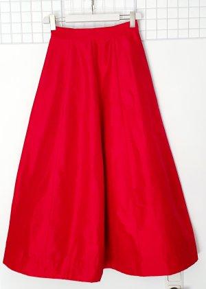 Kenzo Falda larga rojo Seda
