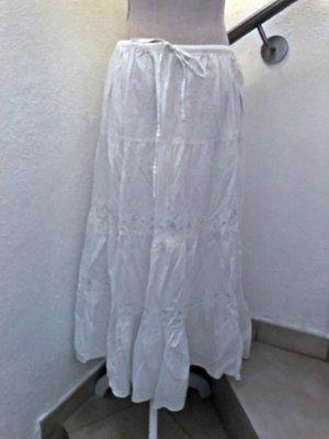 aqua mare neu Spódnica maxi biały Bawełna