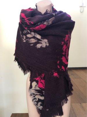 Hallhuber Wollen sjaal bordeaux-magenta