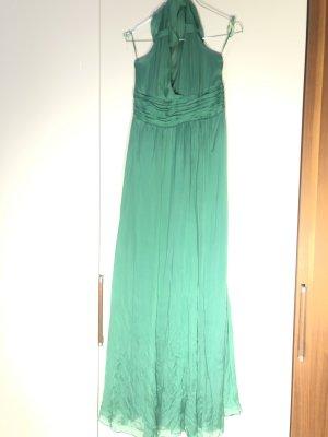 Hallhuber Halter Dress forest green-grass green