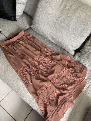 Maxi gonna color oro rosa