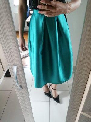 maxi skirt turquoise blau