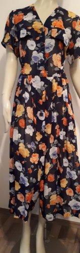 MAXI-SOMMERKLEID, durchgeknöpft, bunt-florales Muster Gr. 38