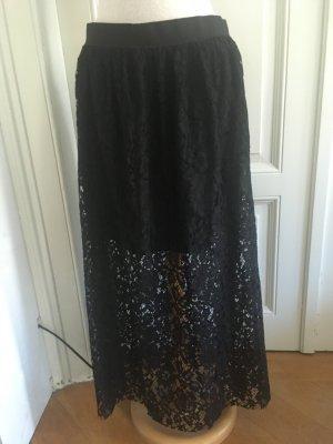 Pimkie Falda de encaje negro