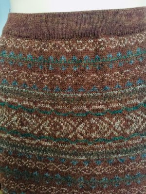 Knitted Skirt multicolored wool