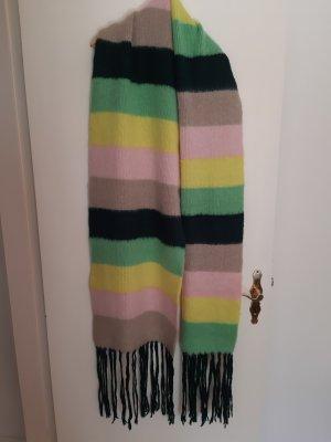 Asos Écharpe à franges multicolore laine