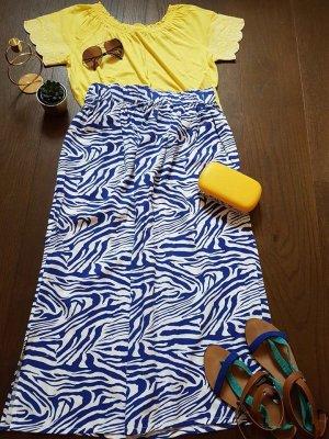 Spódnica maxi biały-niebieski