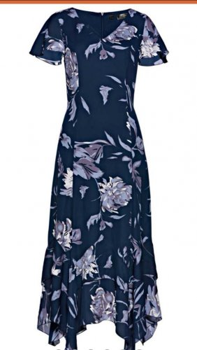bpc Robe longue bleu polyester