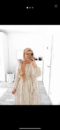 H&M Robe longue beige-crème lycra