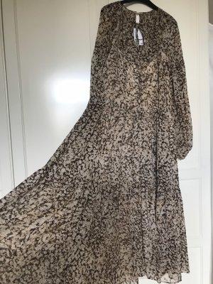 H&M Szyfonowa sukienka Wielokolorowy