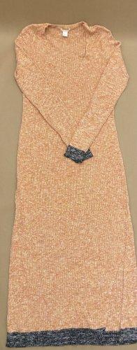 H&M Abito a maniche lunghe arancione chiaro-nero
