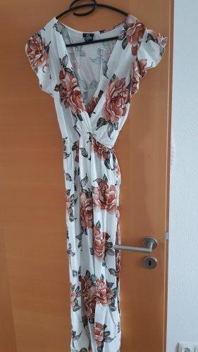 STYLEBOOM Maxi Dress white-bronze-colored