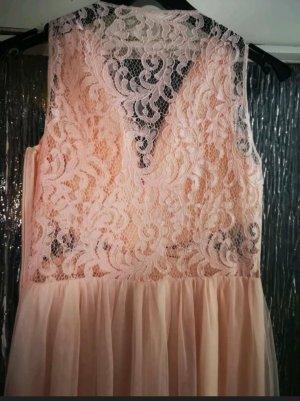 Maxikleid Abendkleid apricot Gr. 34/36