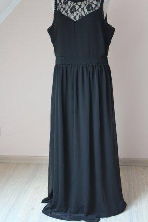 Maxikleid Abendkleid Kleid lang Maxi gothic schwarz Spitze neu Gr. 40