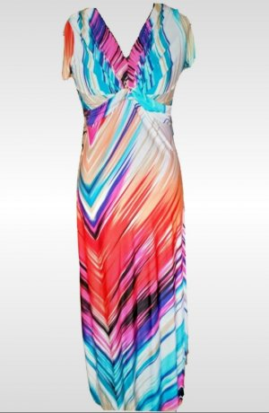 Airisa Robe longue multicolore polyester