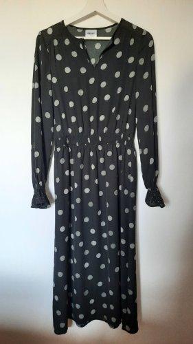 AWARE Robe longue noir-gris clair