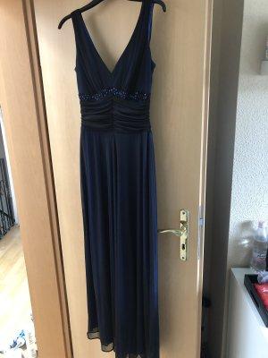 Aigle Sukienka maxi oliwkowy-ciemnoniebieski