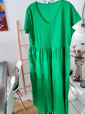 Vestido de tela de sudadera verde Algodón