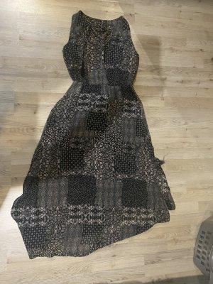 Flame Vestido largo negro Poliéster