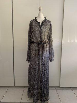 Neo Noir Maxi abito nero-lilla