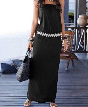 Lascana Robe longue noir coton