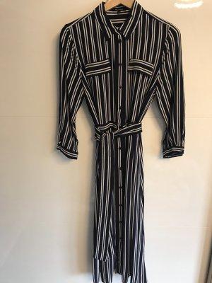 More & More Sukienka maxi biały-ciemnoniebieski