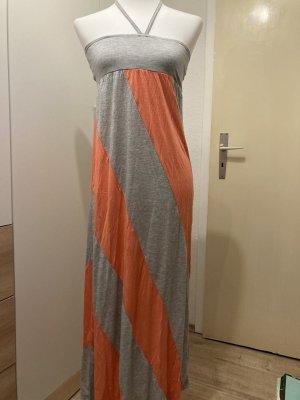 24 colours Sukienka z dekoltem typu halter jasnoszary-łosowiowy