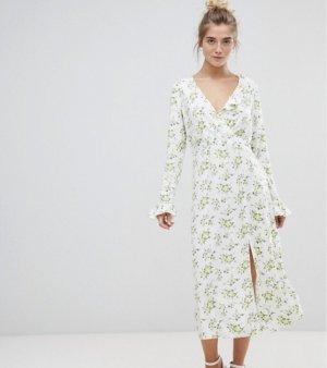 Asos Maxi-jurk wit-geel