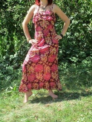 Vestido Hippie magenta Algodón