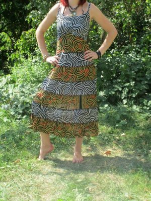Sukienka boho Wielokolorowy Bawełna