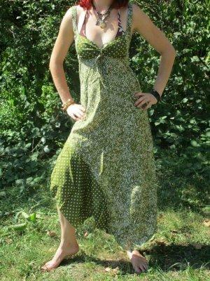 Sukienka boho oliwkowy Bawełna