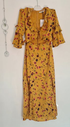 Glamorous Robe découpée orange doré polyester