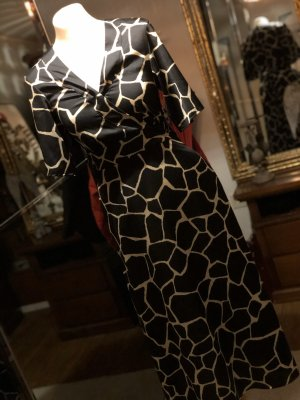 Hallhuber Donna Maxi Dress black-oatmeal