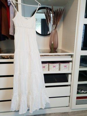 maxikleid Ibiza style boho weiß spitze Strandkleid urlaub sommer