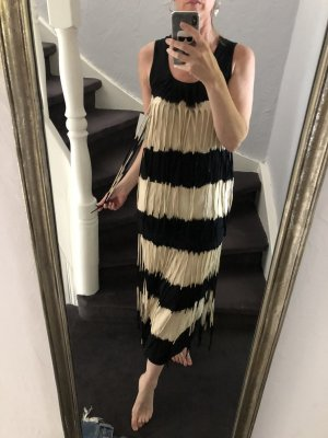 Blaze Fringed Dress black-cream cotton