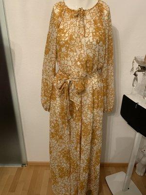 Empire Dress bronze-colored-white