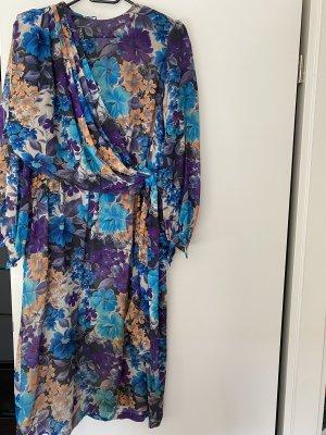 Maxikleid Kleid XXL blau lila