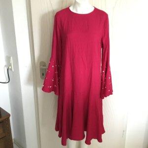 Maxikleid langes Kleid hochwertig mit Perlen von Modanisa in 40 in Pink