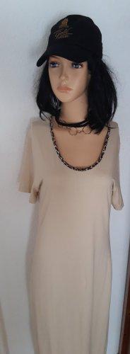 Maxikleid M 38 neu Beige Kleid Sommerkleid T-shirtkleid