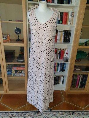 Maxikleid Midikleid Sommerkleid gepunkt Vila Gr. M (38) hellrosa schwarz Kleid