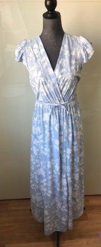 Made in Italy Maxi abito bianco-azzurro