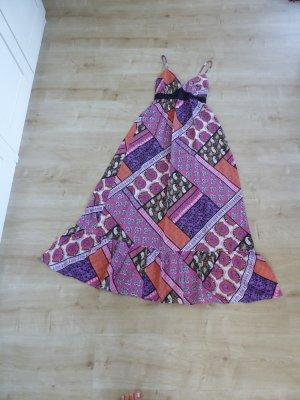 3 Suisses Vestido largo violeta oscuro-violeta Algodón