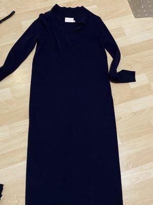 2nd One Vestido largo azul oscuro Algodón