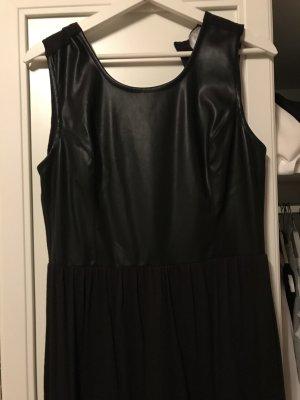 Bibi Lou Robe longue noir cuir