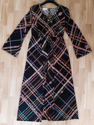 Heine Maxi-jurk bruin-donkerrood Viscose