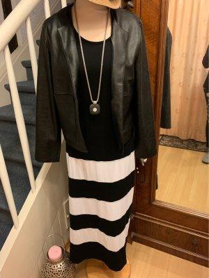Alba Moda Maxi abito nero-bianco