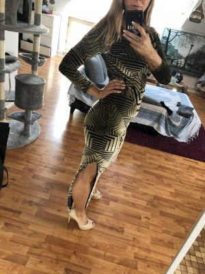 Ana Alcazar Robe longue noir-doré